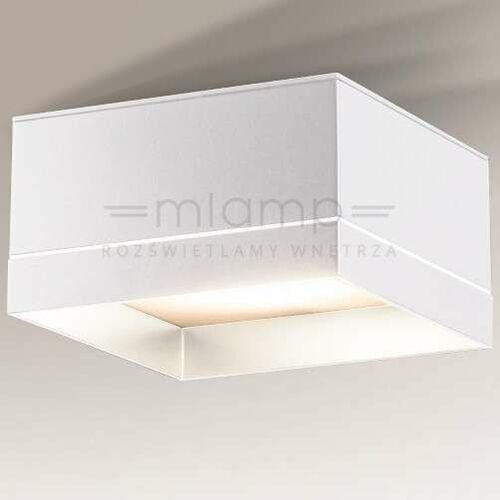 Shilo Plafon lampa sufitowa tosa 7070 kwadratowa oprawa natynkowa led 15w 3000k kostka cube biała