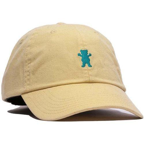 czapka z daszkiem GRIZZLY - Og Dad Bear Logo Hat Yellow/Blue (YLBL) rozmiar: OS, kolor niebieski