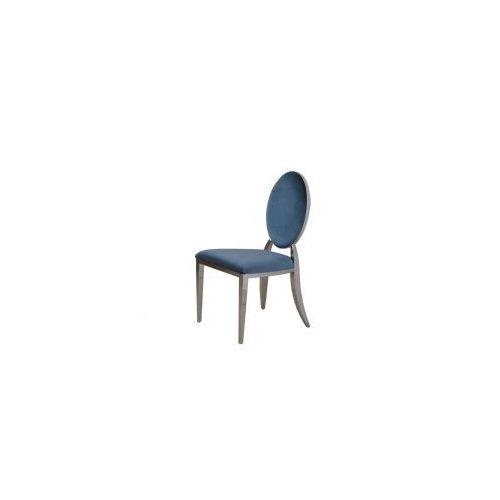 Krzesło tapicerowane Louis - stal polerowana nowoczesny glamour (5908273390291)