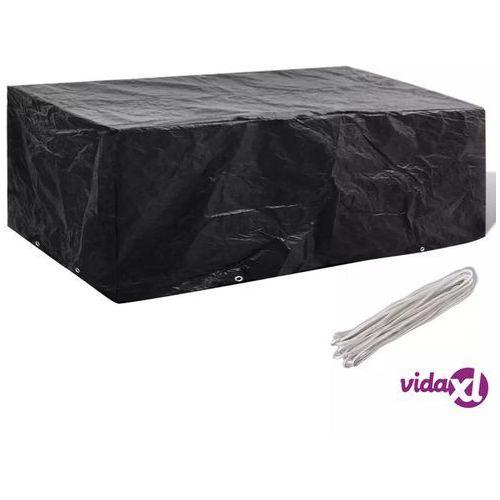 vidaXL Pokrywa na meble ogrodowe z 8 oczkami do przewlekania 200 x 160 x 70cm (8718475915423)