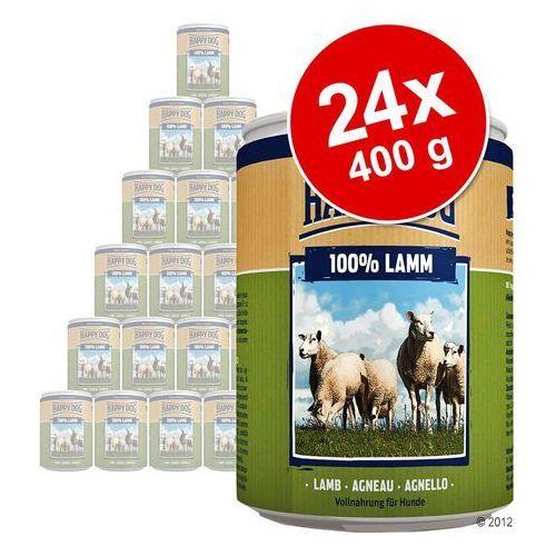 Korzystny pakiet pure, 24 x 400 g - indyk marki Happy dog