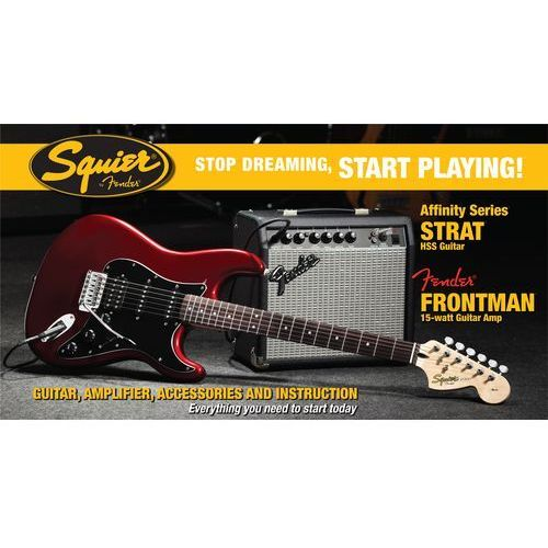 FENDER SQUIER AFFINITY PACK STRATOCASTER HSS 15G CAR