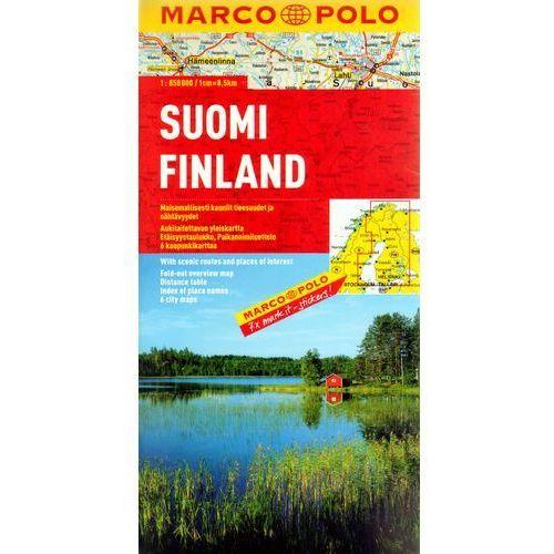 Finlandia 1:850 000. Mapa samochodowa, składana. Marco Polo