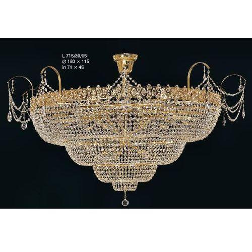 Plafon kryształowy pałacowy na 30 żarówek - Elite Bohemia