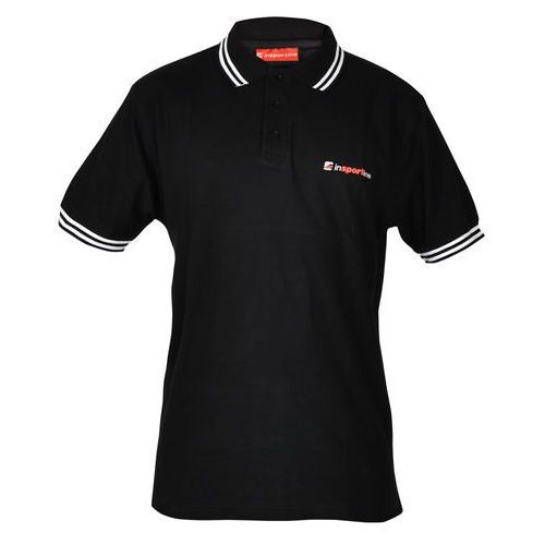 Koszulka polo inSPORTline, Czarny, S (8595153691035)