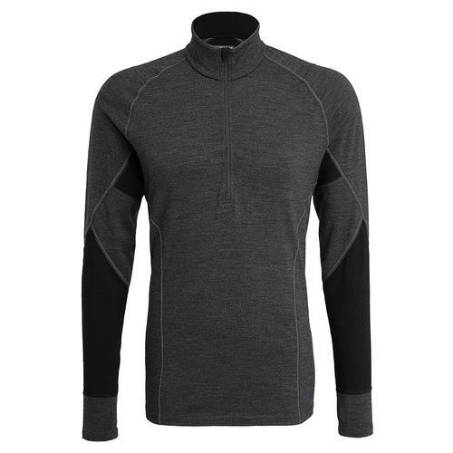 Icebreaker MENS WINTER ZONE HALF ZIP Podkoszulki jet heather/black/lunar