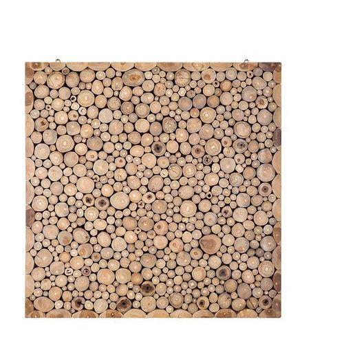 Beliani Mozaika - ozdoba na ścianę - dekoracja ścienna - 82x82 cm - twig (7081453557009)
