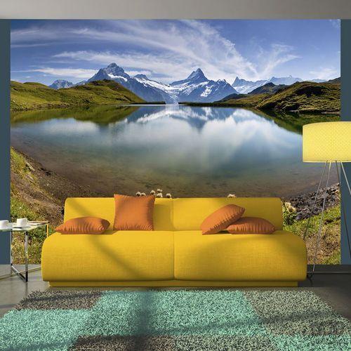Fototapeta Góry odbijające się w tafli jeziora, Szwajcaria 100403-151, 100403-151