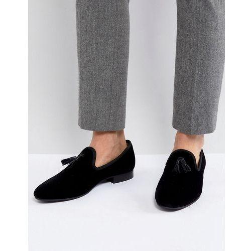 Kg By Kurt Geiger Velvet Tassel Loafers Black - Black