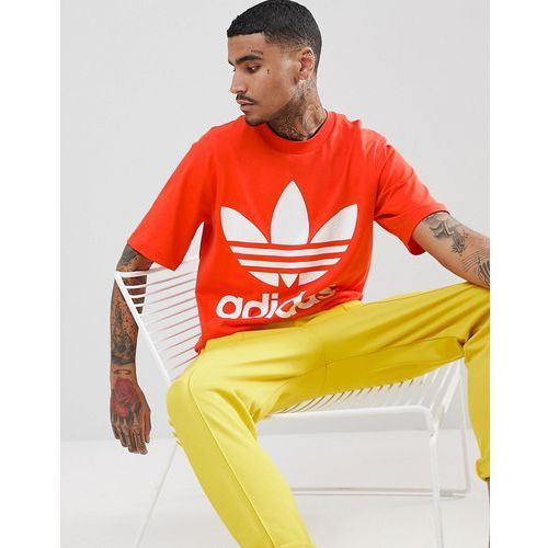 adidas Originals adicolor Oversized T-Shirt In Boxy Fit In Red CW1213 - Red