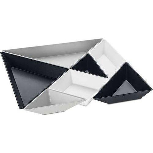 Tace do serwowania przekąsek Tangram Ready 7 el. czarno-białe, 3480334
