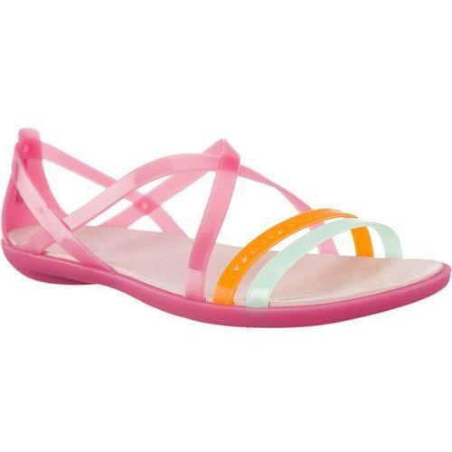 Crocs Sandały isabella cut strappy sandal paradise pink/rose dust paradise pink/rose dust