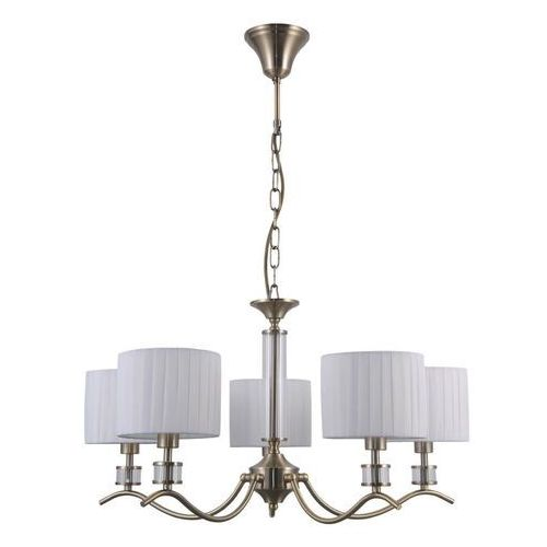 ferlena pnd-28343-5 lampa wisząca zwis 5x40w e14 biała/antyczny brąz marki Italux