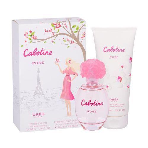 Gres Cabotine Rose zestaw Edt 100 ml + Mleczko do ciała 200 ml dla kobiet, 96129