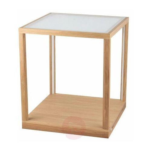Spot light Tavoli glass stojąca spot-light 8881974 drewno dębowe/szkło/akryl