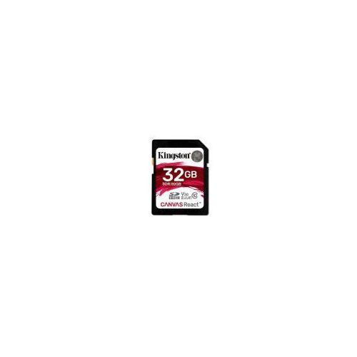 Karta pamięci Kingston Canvas React SDHC 32GB class 10 UHS-I U3 V30 A1 - 80/100MB/s