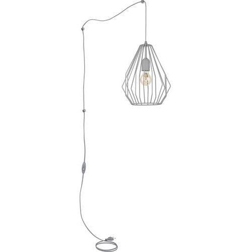 Lampa wisząca zwis oprawa druciana TK Lighting Brylant 1x60W E27 szara 2285 (5901780522858)