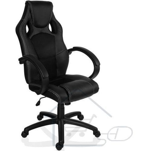 Fotel obrotowy dla gracza, RACEMASTER, czarny