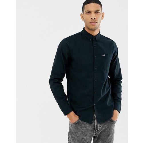 Hollister icon logo button down cross dye oxford shirt slim fit in black - Black, w 5 rozmiarach