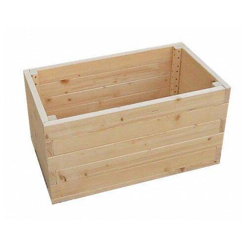 Duża prostokątna drewniana donica ogrodowa 15 kolorów - Kamala
