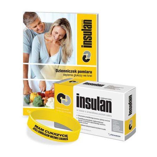 Tabletki INSULAN x 60 tabletek + dzienniczek pomiaru stężenia glukozy + opaska na rękę dla diabetyka