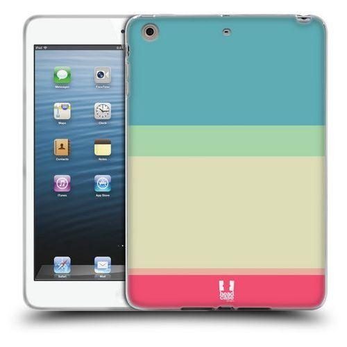 Etui silikonowe na tablet - Paski Niebieskie i Kremowe, kolor niebieski