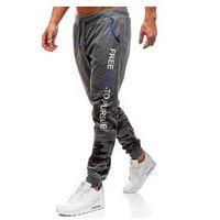 Spodnie męskie dresowe joggery grafitowe denley kk501 marki J.style