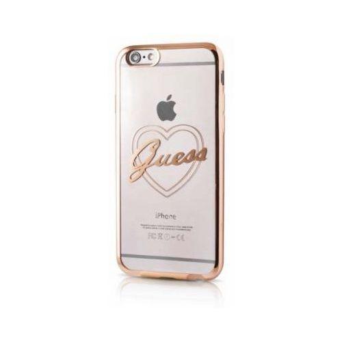 Guess Futerał heart gold hardcase signature apple iphone 6 / 6s