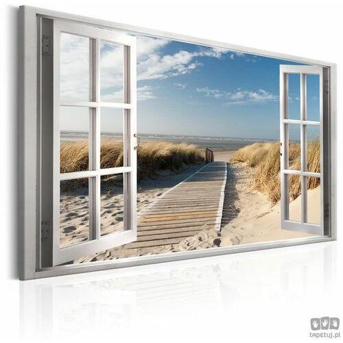 Obraz Okno: widok na plażę