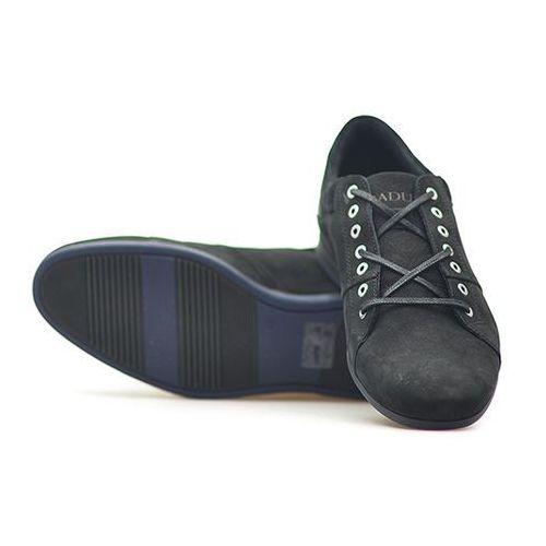 Półbuty 3118 czarne nubuk marki Badura