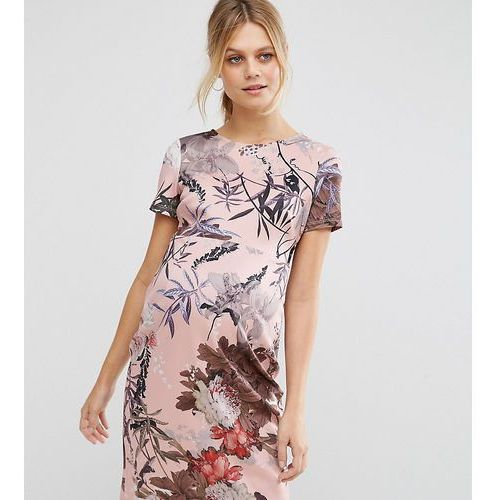 t-shirt bodycon dress in pretty floral print - multi marki Asos maternity