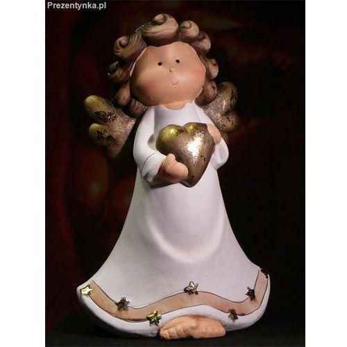 Duży ceramiczny aniołek