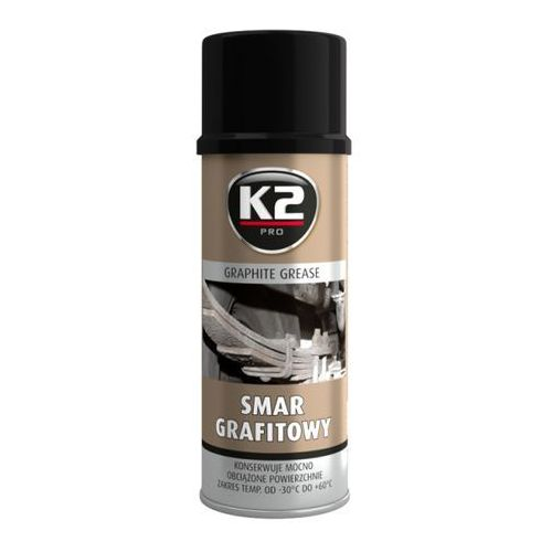 K2 smar grafitowy 400 ml konserwuje mocne obciążone powierzchnie (5906534008084)