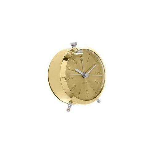 Zegar stołowy, budzik Button brass plated by Karlson, KA5599GD