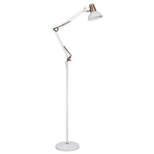 Rabalux Stojąca lampa podłogowa gareth 4525 loftowa oprawa salonowa na wysięgniku miedź biała (5998250345253)