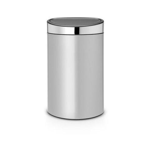 Kosz na śmieci touch bin new 40l metaliczny szary marki Brabantia