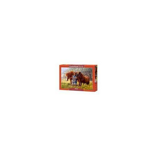 Castor 500 elementów, dziewczynka z końmi