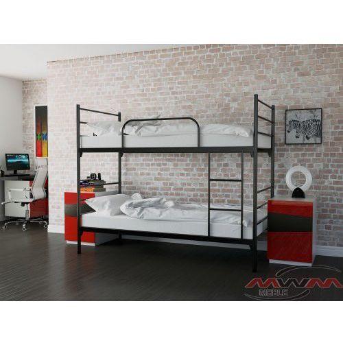 Łóżko metalowe piętrowe rozkładane 90x200 marki Meblemwm