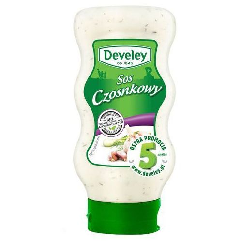 Sos czosnkowy 410 g Develey (sos, dodatek)