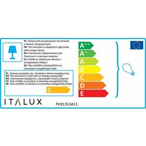 Italux Listwa lucien fh31313a11 sufitowa lampa ścienna 3x35w gu10 biały