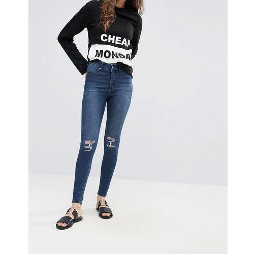 high spray ripped knee skinny jeans - blue marki Cheap monday