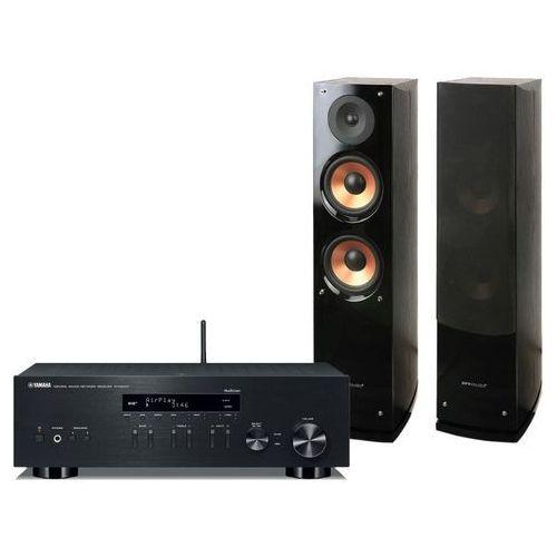 Yamaha Zestaw stereo r-n303d + pure acoustics nova 6 czarny + zamów z dostawą w poniedziałek! + nawet 20% rabatu na najtańszy produkt! + darmowy transport! (2900223262965)