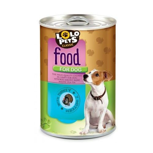 Lolo pets  food for dog indyk 410g