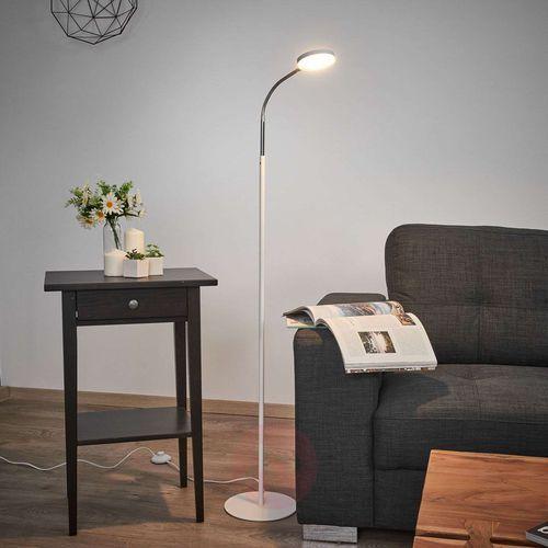 Lindby Milow - lampa stojąca led, elastyczna szyjka