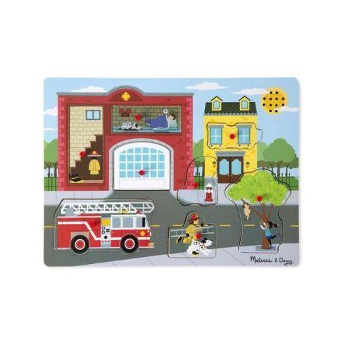 Melissa & doug puzzle dźwiękowe. straż pożarna