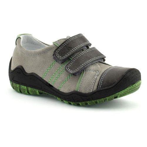 Niskie półbuty dla dzieci Kornecki 06126 - Zielony ||Szary, kolor zielony