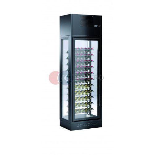 Witryna przyścienna 1-drzwiowa do przechowywania i ekspozycji wina ENOLUX WI-1W-BLA-26