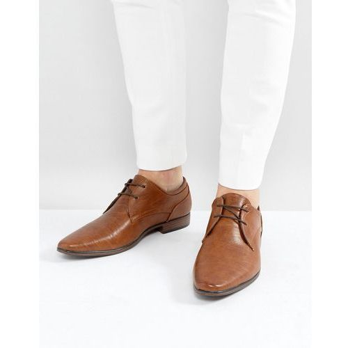 River island lace up derby shoes in tan - tan