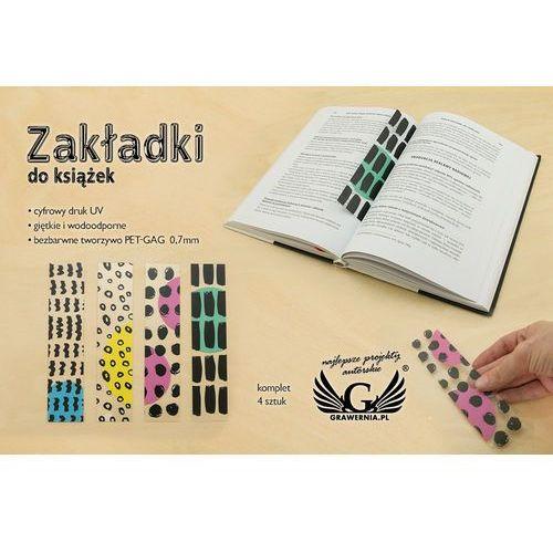 Zakładki do książek komplet 4 szt - abstrakcja - cyfrowy druk uv - zak004 marki Grawernia.pl - grawerowanie i wycinanie laserem