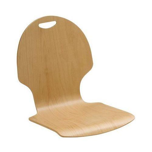 Krzesło z siedziskiem z drewna, opak. 2 szt., buk naturalny, szczelina uchwytowa